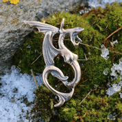 WATER DRAGON, BRONZE PENDANT - PENDANTS, NECKLACES