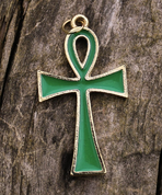 NILE CROSS ANKH - GREEN - MIDDLE AGES, OTHER PENDANTS