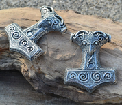 RAVEN THOR HAMMER FROM SCANIA, SILVER 925, 17 G - PENDANTS - HISTORICAL JEWELRY