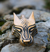 WARG, NORSE WOLF, VIKING PENDANT, BRONZE - ANIMAL PENDANTS