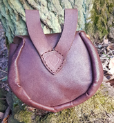 CERNUNNOS, LEATHER BAG BROWN, BRONZE - BAGS, SPORRANS