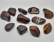 TUMBLED IRON BULL'S EYE - TUMBLED STONES