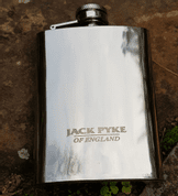 HIP FLASK, STAINLESS STEEL, 4 OZ/118 ML - FOOD - CUTLERY, MESS TINS