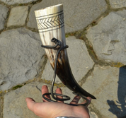 FISHBONE, CARVED SLAVIC DRINKING HORN - DRINKING HORNS