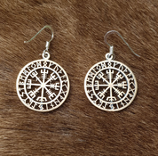 VEGVISIR, ICELANDIC RUNE EARRINGS, BRONZE - EARRINGS - BRONZE