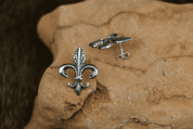 FLEUR DE LIS SILVER EARRINGS - MYSTICA SILVER COLLECTION - EARRINGS