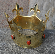 REX, MEDIEVAL CROWN, BRASS - CROWNS AND TIARAS