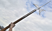 HALBERD, REPLICA OF A TWO-HANDED POLE WEAPON - AXES, POLEWEAPONS