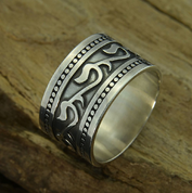 ISKRA, SLAVIC RING, SILVER - RINGS - HISTORICAL JEWELRY