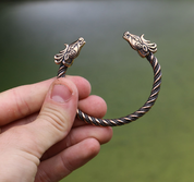 FIANNA, CELTIC DEER, BRONZE BRACELET - VIKING, SLAVIC, CELTIC BRACELETS - BRONZE AND BRASS