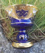 MARIOT - GOBLET, CZECH GLASS, HIGH ENAMEL - HISTORICAL GLASS