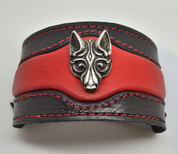FENRIR - VIKING WOLF LEATHER BRACELET - WRISTBANDS