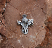 SCOTTISH THISTLE - ALBA, SILVER PENDANT - MYSTICA SILVER COLLECTION - PENDANTS