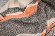 ETHNIC DIAMOND MERINO WOOL THROW - WOOLEN BLANKETS AND SCARVES, IRELAND
