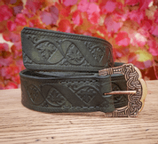 VINUM, GOKSTAD BELT, GREEN, LEATHER - BELTS