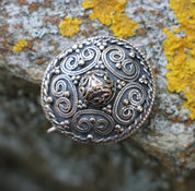 VIKING BROOCH, STORA RYK, FÄRGELANDA, SWEDEN, BRONZE - COSTUME BROOCHES, FIBULAE