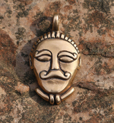 CELTIC HEAD, BRONZE PENDANT - PENDANTS, NECKLACES
