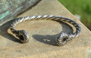 CELTIC WARRIOR'S BRACELET, STERLING SILVER, AG 925 - PENDANTS - HISTORICAL JEWELRY