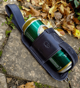 SKULL LEATHER BEER HOLSTER - BOTTLES