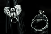 OWL, SILVER RING - RINGS - HISTORICAL JEWELRY