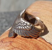 CORVUS, RAVEN, BRONZE RING - RINGS - BRONZE