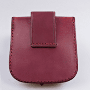GENTLEMAN, LEATHER BELT BAG - RED - BAGS, SPORRANS
