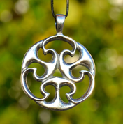 CELTIC KNOT OF LIFE, REPLICA, I. CENTURY, GALLIA?, SILVER 925, 11 G - PENDANTS - HISTORICAL JEWELRY