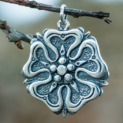 ROSE, HOUSE OF ROSENBERGS, PENDANT, SILVER - PENDANTS - HISTORICAL JEWELRY