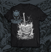 THOR'S HAMMER, MEN'S T-SHIRT BW, NAAV - PAGAN T-SHIRTS NAAV FASHION