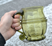 BEER GLASS, GREEN, HISTORICAL REPLICA - HISTORICAL GLASS
