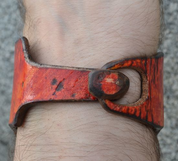 HELIOS, HANDCRAFTED LEATHER WRISTBAND - WRISTBANDS