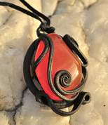 CARNELIAN - BIG STONE PENDANT - FANTASY JEWELS