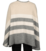 BONE STRIPE CASHMERE SERAPE, FOXFORD, IRELAND - WOOLEN SWEATERS AND VESTS