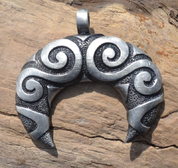 CELTIC SPIRAL LUNULA, TIN PENDANT - CELTIC PENDANTS
