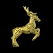 CELTIC DEER, PENDANT, 14K GOLD - GOLDEN JEWELLERY
