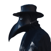 PLAGUE DOCTOR, LEATHER MASK AND HAT - LEATHER MASKS