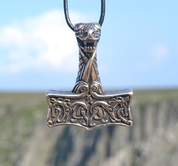 THOR'S HAMMER, OSEBERG STYLE, NORWAY, BRONZE - BRONZE HISTORICAL JEWELS