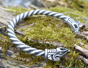 DREKI, VIKING BRACELET, SILVER PLATED TIN ALLOY - VIKING PENDANTS