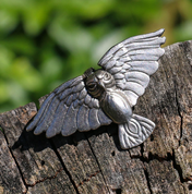 FLYING OWL, PEWTER PENDANT - ANIMAL PENDANTS