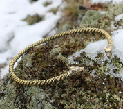 FENRISULFR, BRAIDED TORQUES - BRASS - FORGED JEWELRY, TORCS, BRACELETS