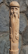 VELES, SLAVIC GOD, CARVED WOODEN FIGURINE - WOODEN STATUES, PLAQUES, BOXES