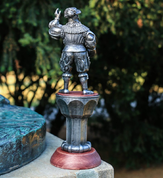 LANDSKNECHT, 16TH CENTURY, LARGE TIN FIGURE - PEWTER FIGURES