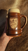 CERAMIC BEER MUG WITH CZECH LION, 0.4 L - HISTORICAL CERAMICS