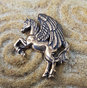 PEGASUS, PENDANT, BRONZE - PENDANTS, NECKLACES