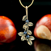 BLUEBERRIES, PENDANT, BRONZE - COSTUME JEWELLERY