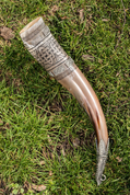 HIBERNIA, LUXURY ENGRAVED DRINKING HORN - DRINKING HORNS