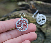 YGGDRASIL, TREE EARRINGS, SILVER - MYSTICA SILVER COLLECTION - EARRINGS