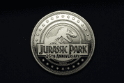 JURASSIC PARK COLLECTABLE COIN 25TH ANNIVERSARY T-REX - JURASSIC PARK