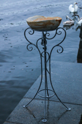 BIRD BATH - FORGED, SANDSTONE - FORGED IRON HOME ACCESSORIES