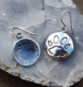 CAT TRACK, EARRINGS, SILVER - MYSTICA SILVER COLLECTION - EARRINGS